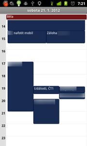 Kalendář - denní přehled