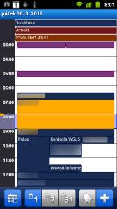 Denní pohled na kalendář