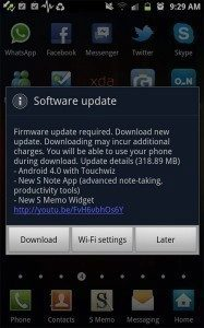 Samsung uvoluje Ice Cream Sandwich pro Galaxy Note