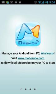Abyste mohli bezdrátově spravovat svůj telefon, budete muset stáhnout aplikací z webu www.moborobo.com
