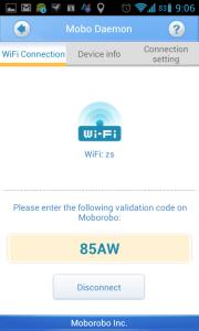 Tlačítkem Enable vygenerujete přístupový kód
