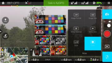 DJI Pilot - barevna paleta
