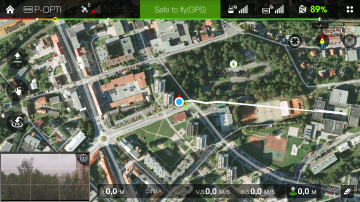 DJI Pilot - dashboard mapa