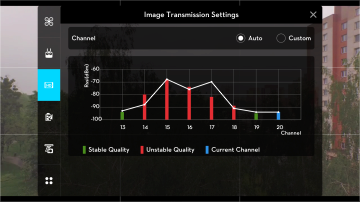 DJI Pilot - nastaveni prenosu obrazu