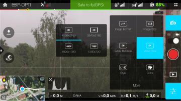 DJI Pilot - rozlišení videa