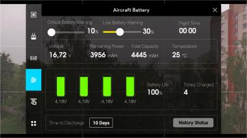 DJI Pilot - stav baterie