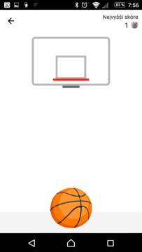 A můžete hrát basket v aplikaci Facebook Messenger
