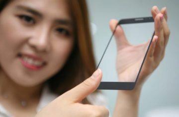 Senzor otisků prstů v displeji LG