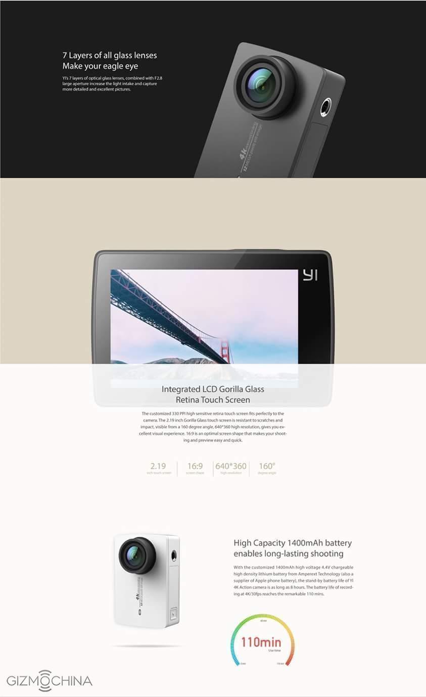 Xiaomi Yi 4K Action Camera 2 již brzy. Vyšlápne si i na GoPro Hero