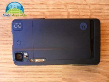 Motorola Milestone XT72 zadní část