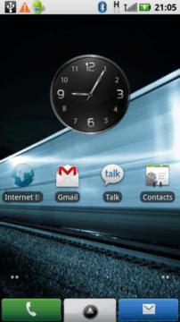 Motorola Milestone XT720 hlavní obrazovka