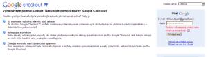Přihlášení ke Google Checkout