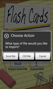 FlashCards - import souborů