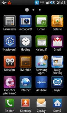 Přehled všech aplikací, které najdete v Galaxy 3
