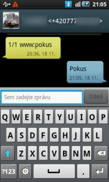SMS jsou prezentovány formou konverzace