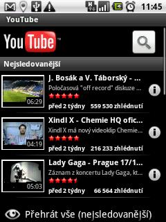 Přehrávač Youtube