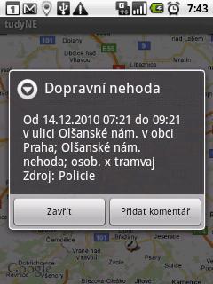Detailní informace o nehodě