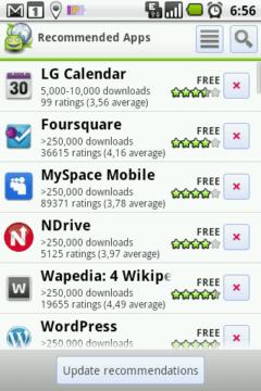 Doporučené aplikace