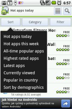 Jaké aplikace dnes letí?