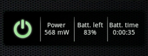 PowerTutor: Widget na plochu