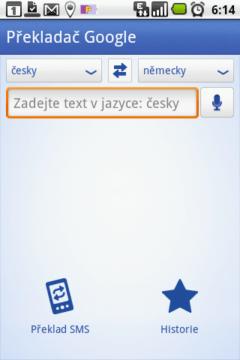 Vyleštěné rozhraní aplikace