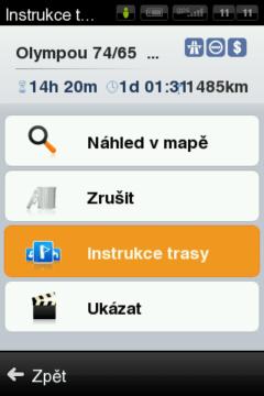 Detaily navržené trasy