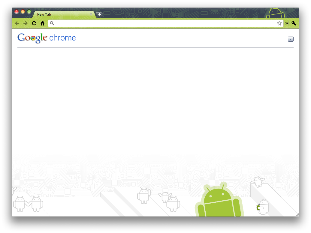 Android téma pro Chrome