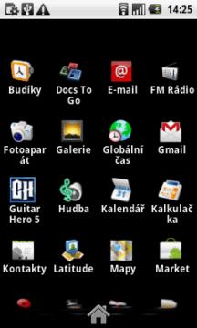 Přehled aplikací, nainstalovaných v telefonu