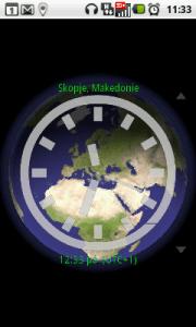 Poněkud komplikované zobrazení časové zóny