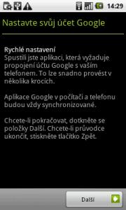 Průvodce nastavením účtu Google
