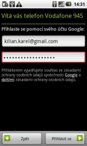 Nastavení účtu Google