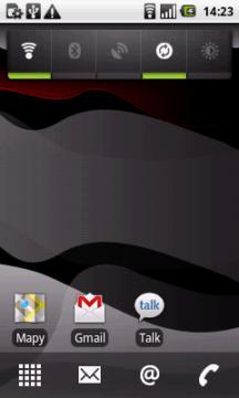 Výchozí nastavení ploch, widgetů a ikon