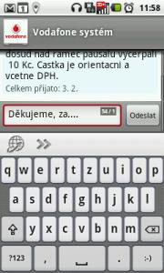 Odpověď na SMS zprávu