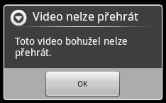 S videem komprimovaným kodekem Xvid si telefon neporadil