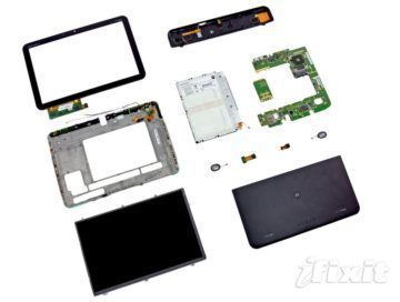 Motorola Xoom rozložená na prvočinitele