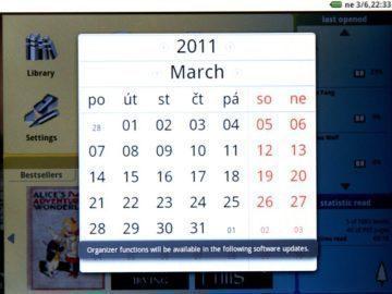 Kalendář – zatím bez dalších funkcí