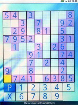 Předinstalovaná aplikace Sudoku