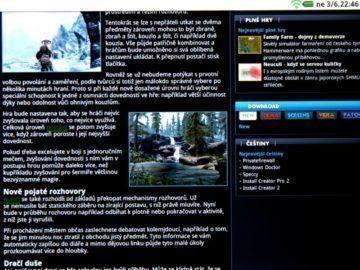 Běžný webový obsah se zobrazí bez problémů