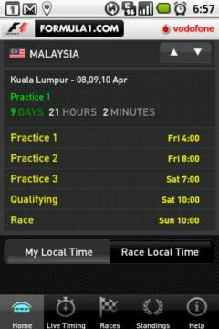 Kdy bude příští závod, trénink či kvalifikace?