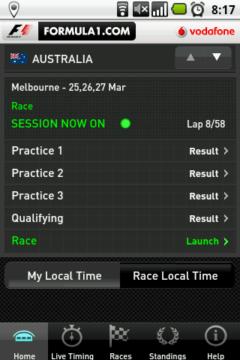 Během probíhajícího závodu můžete přejít přímo do live timingu