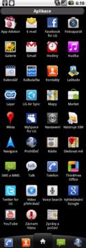 Seznam všech aplikací, které najdete v telefonu