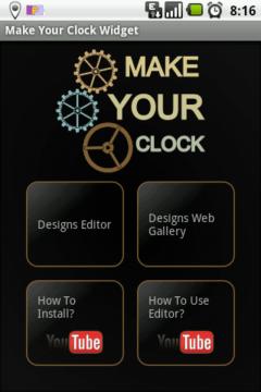 Výchozí obrazovka nabízí čtyři možnosti