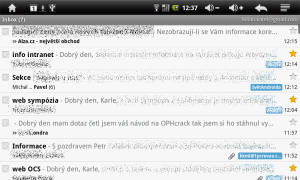 GMail na MIDroidu neumí barevné štítky, ani prioritní poštu