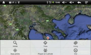 Mapy nabízejí všechny potřebné funkce. Chybí jen lokalizace přes GPS.