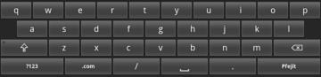 MIDroid A2 nabízí jen klasickou Android klávesnici