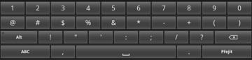 Čísla i speciální znaky se vejdou na jednu obrazovku