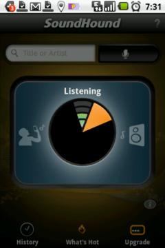 SoundHound si písničku nejprve nahraje a pak ji odešle k rozpoznání