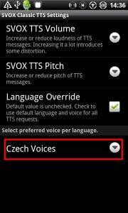 Nastavení hlasu Iveta jako výchozí hlas pro češtinu