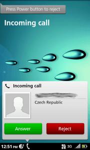 Příchozí hovor