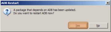 S restartem ADB nezbývá než souhlasit